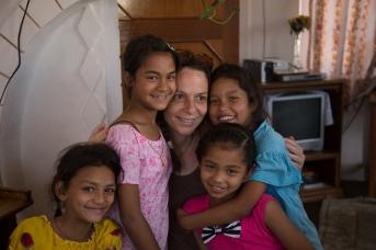 Sneha, with Binisha, Sanjahna, Sneha, & Carole by Elias SFAXI (Copyright)