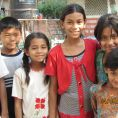 Suman, Laxman, Samjhana, Usha, Nisha (non parrainée par SEA), Binisha