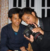 Anga, photographer with Raj Kumar