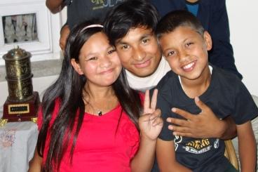 Phool Maya, dans le Home SEA à Katmandu, avec Rajindra et Sudip - Mai 2013