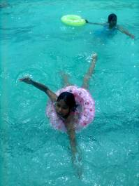 Simran : Dancing or swimming ?