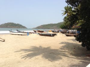 The beach ....