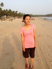 Jyoti on Palolem Beach, near the Sameer Restaurant
