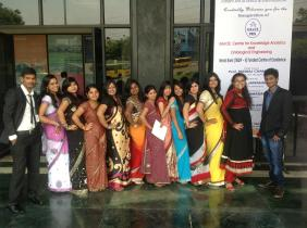 Aspiration Day - Samjhana wears a blue dress !