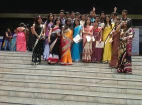 Samjhana with her friends