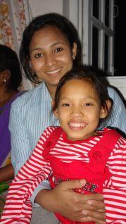 Sushila with Laxmi