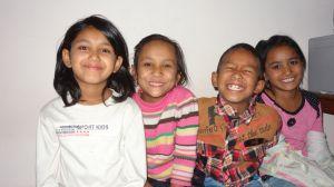 Chari Maya (2nd left) with Aruna, Ankit & Ram Maya