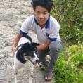 Rajendra et le chien oct 2020
