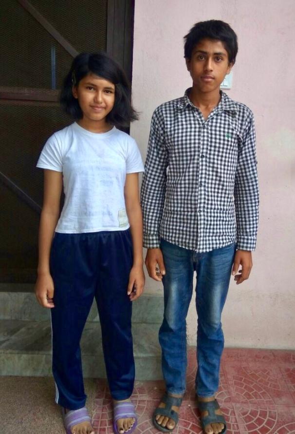 Aruna oct 2017 avec son frère, Arjun