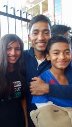 Shanker avec Asmita et Prabin, 2018