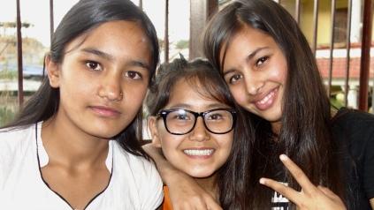Asmita avec Rammaya et Pratika 2018