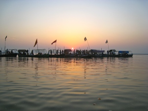 Sangam Hindi Holy point, confluence of Ganges & Yumana river