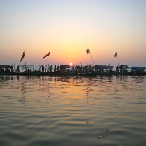 Sangam Hindi Holy point, confluence of Ganges & Yumana river