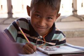 Ankit à l'école en 2013
