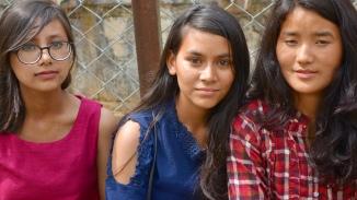 Usha en 2018 entre Anu et Anjali