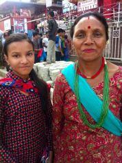 Pushpa 2015 avec sa mère