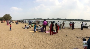 The Kaveri River beach