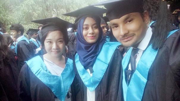 Rajendra and graduated friends 2017