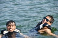 Swimming in Phewa lake