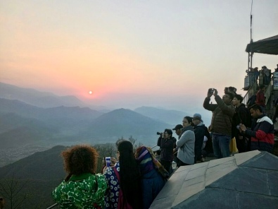 People ready to click sunrise