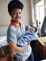 Nathan and father, Raj