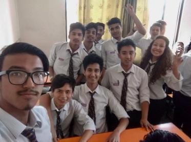 Nima and his classmates, Dec 2018